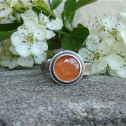 pomarańczowy,karneol,dziewczęcy - Pierścionki - Biżuteria