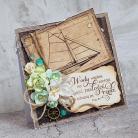 Kartki okolicznościowe ślub,żaglówka,cytat,pieśn nad pieśniami