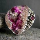 Pierścionki srebro,rubin,fuchsyt,pierścionek