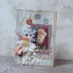 Święta,Boże narodzenie,mikołaj - Kartki okolicznościowe - Akcesoria