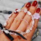 Bransoletki ślubna,elegancka,srebrna,perły,kryształy,księżycow