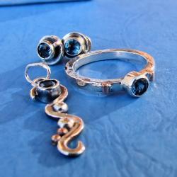 delikatny,srebrny,subtelny - Komplety - Biżuteria