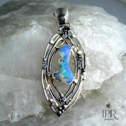 Wisior srebrny z opalem - Wisiory - Biżuteria