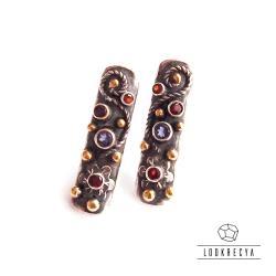 ekskluzywne kolczyki,srebrne sztyfty,kwiatowe - Kolczyki - Biżuteria