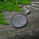 Wisiory srebro,talizman,amulet,kwiat życia,wisior