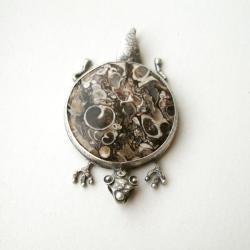 srebrny wisior,żółw,smok,jaspis żółwi - Wisiory - Biżuteria