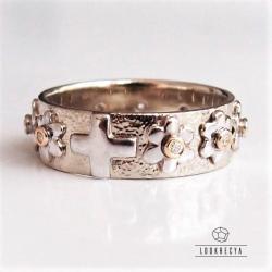 pierścionek różaniec,różaniec na palec,obrączka - Pierścionki - Biżuteria