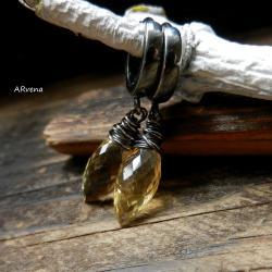 eleganckie kolczyki,kolczyki z cytrynem - Kolczyki - Biżuteria