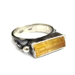 topaz,blask,srebro,królewski,srebrny,styl,złoty - Pierścionki - Biżuteria