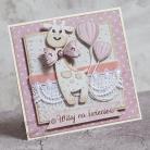 Kartki okolicznościowe dziewczynka,maleństwo,witaj,narodziny,żyrafa