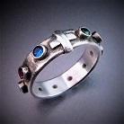 Pierścionki pierścionek różaniec,pierścionek z cyrkoniami