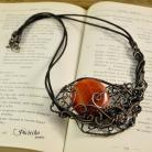 Naszyjniki naszyjnik,wisior,agat,wire wrapping,pociecha