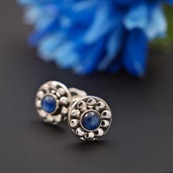 kyanit,srebro,sztyfty,kolczyki,małe - Kolczyki - Biżuteria