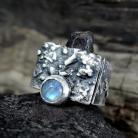 Pierścionki pierścionek srebrny z kamieniem księżycowym