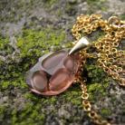 Wisiory złocony wisior Swarovski Blush Rose