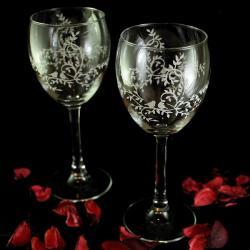 romantyczne,kieliszki,ślubne,walentynkowe - Ceramika i szkło - Wyposażenie wnętrz