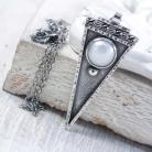 Naszyjniki Srebrny naszyjnik z perłą