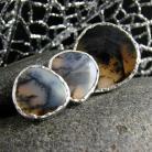 Komplety srebro,agat,dendrytowy,kolczyki,pierścień