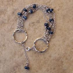 oryginalna,z szafirami - Bransoletki - Biżuteria