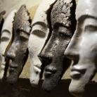 Ceramika i szkło maska,ceramika,na śianę,unikat,rzeżba