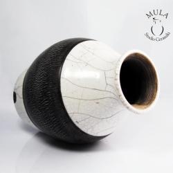 raku,wazon ceramiczny,ceramika,technika raku, - Ceramika i szkło - Wyposażenie wnętrz