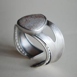 unikatowa,autorska,nitza skamielina - Bransoletki - Biżuteria