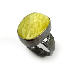 srebrny,oksydowany,złoty,szarości,srebro,retro - Pierścionki - Biżuteria