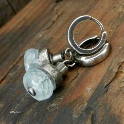 akwamaryn,kolczyki srebrne,niebieski - Kolczyki - Biżuteria