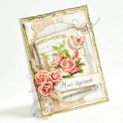 życzenia,na każdą okazję,róże - Kartki okolicznościowe - Akcesoria