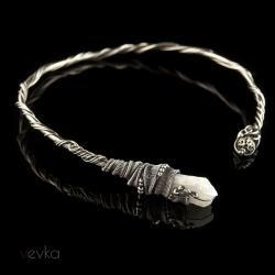 kwarc,naszyjnik z kwarcem,kryształ tytanowany - Naszyjniki - Biżuteria