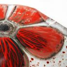 Ceramika i szkło talerz sałatka szkło stapiane kwiat