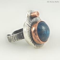 apatyt,artjewelry,ring,ela rubin - Pierścionki - Biżuteria