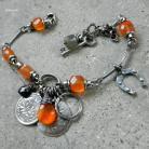 Bransoletki srebro oksydowane,biżuteria autorska