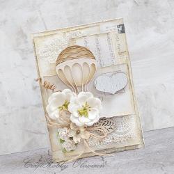 balon,kwiaty,urodziny,imieniny - Kartki okolicznościowe - Akcesoria