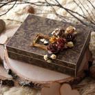 Pudełka pudełko,rustykalny,na obrączki,obrączki,drewniane