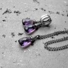 Komplety komplet,fioletowy,delikany,z kamieniami,prezent