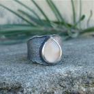 Pierścionki kamień księzycowy,obrączka,surowy