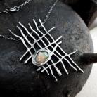 Naszyjniki wisior z surowym opalem