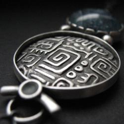 biżuteria artystyczna,srebro,fiann,unikat - Wisiory - Biżuteria