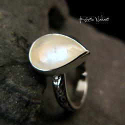 Nehesi,Pierścień,Ze Srebra,obączka,moonstonem - Pierścionki - Biżuteria