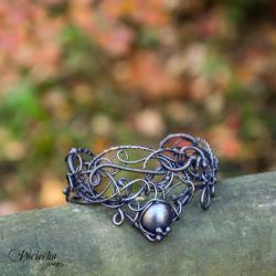 bransoletka,miedź,wire-wrapping,elfy - Bransoletki - Biżuteria