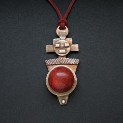 biżuteria autorska,wisior z brązum fiann - Wisiory - Biżuteria