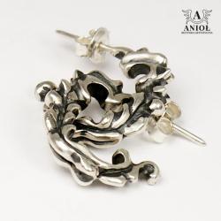 kolczyki srebrne,barokowe - Kolczyki - Biżuteria