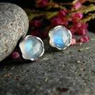 Kolczyki srebro,kamień księżycowy,kolczyki,sztyfty