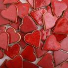 Ceramika i szkło serce z gliny,ceramiczne serce
