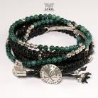 Dla mężczyzn komplet bransolet,biżuteria skórzana,koraliki
