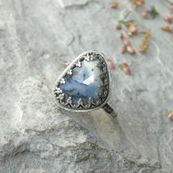 pierścionek z agatem dendrytowym - Pierścionki - Biżuteria