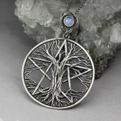 pentakl,pentagram,drzewo życia,natura,magia - Wisiory - Biżuteria