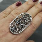 Pierścionki pierścionek,srebro,czyste,wire wrapping,duży