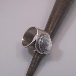pierścień regulowany,srebro,agat - Pierścionki - Biżuteria